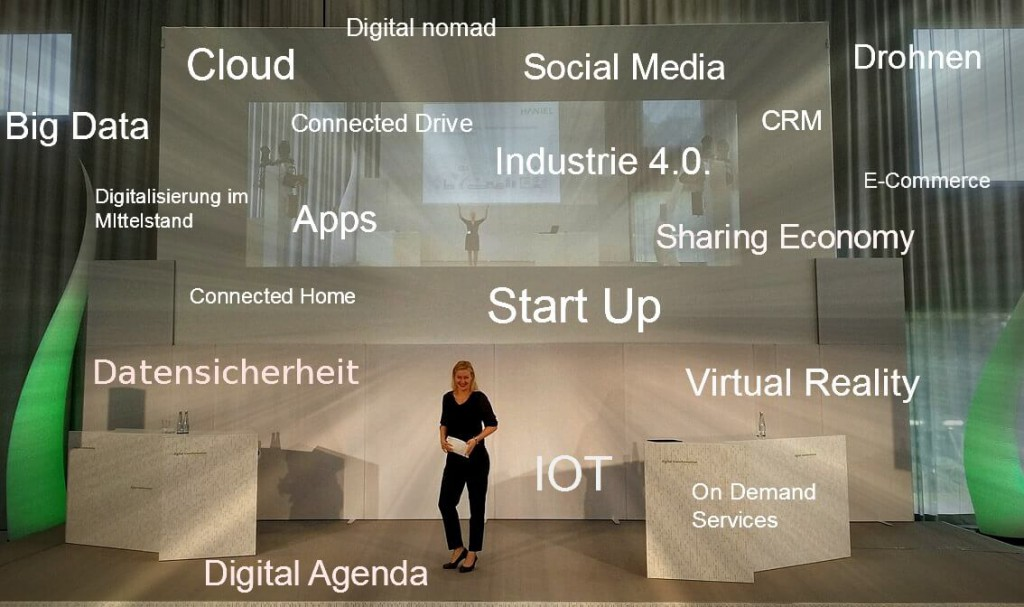 Moderation Digitalisierung von Carmen Hentschel auf dem Event der Unternehmensgruppe Haniel 2016