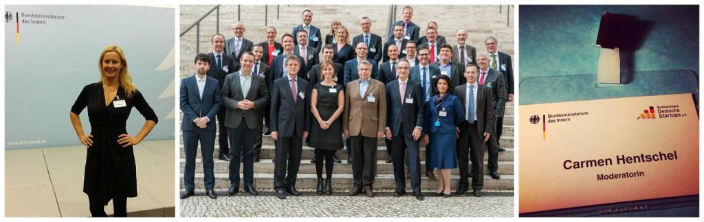 Moderation Digitalisierung von Carmen Hentschel auf einer Veranstaltung zum Thema Datensicherheit für das Bundesministerium des Innern