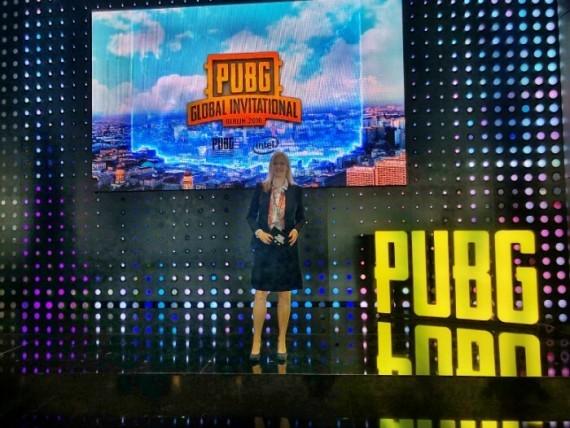 Moderator E-Games Pressekonferenz PUBG 2018 in Berlin