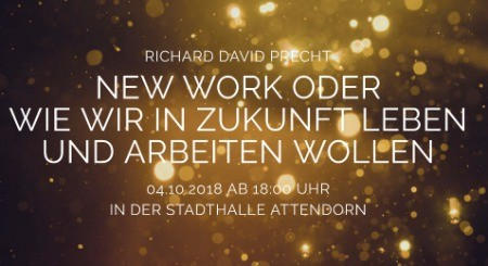 Moderator New Work Panel mit Richard David Precht