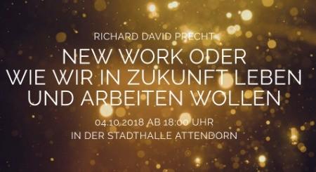 Moderator New Work Panel mit Richard David Precht