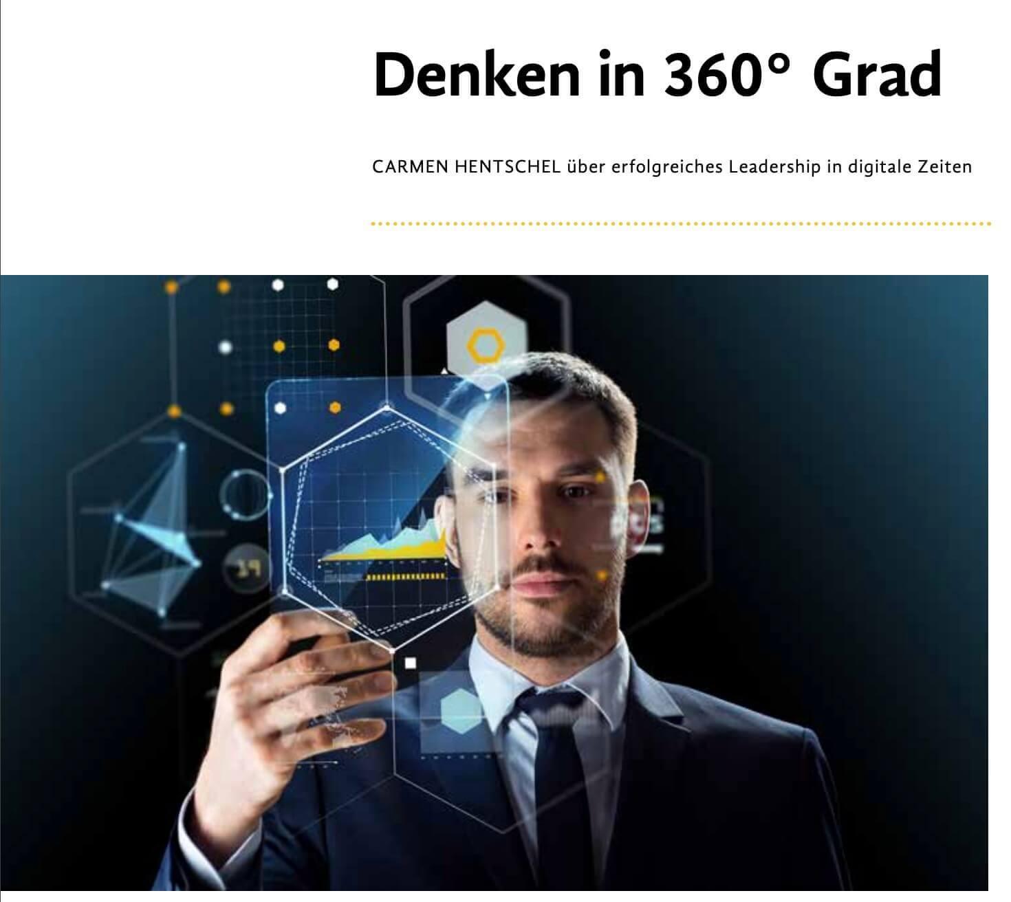 Artikel von der Moderatorin und Speakerin Digitalisierung über Denken in 360 Grad