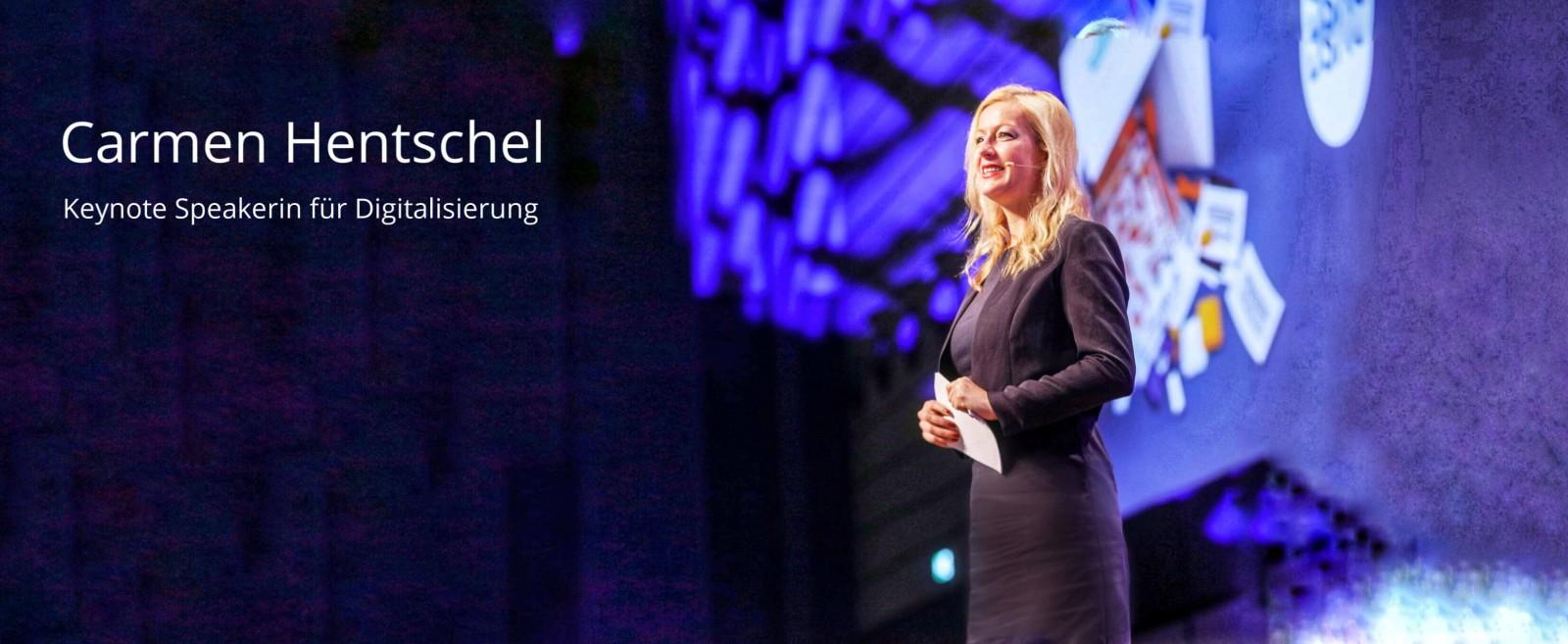 Keynote Speakerin mit dem Vortrag Digitalisierung, Digital Mindset und Zukunft Carmen Hentschel