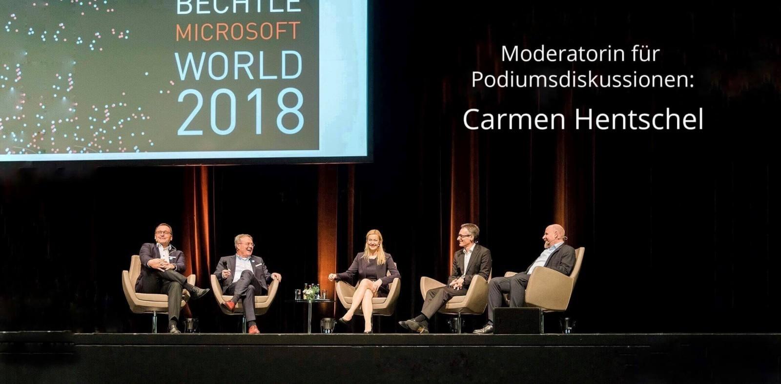 Moderatorin für Podiumsdiskussionen Carmen Hentschel