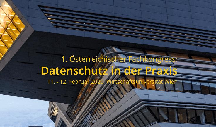 Moderatorin Carmen Hentschel moderiert den Datenschutz Kongress zum Thema Cyber Security in Wien, Österreich